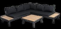 Zestaw wypoczynkowy narożny Zoe 3- elementy ze stolikiem