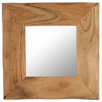 Lustro kosmetyczne, 50x50 cm, lite drewno akacjowe