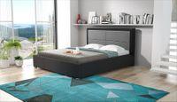Łóżko KORDOBA do sypialni Rozmiary - 160x200, Kolorystyka łóżka - Sawana 21, Pojemnik na pościel - bez pojemnika na pościel