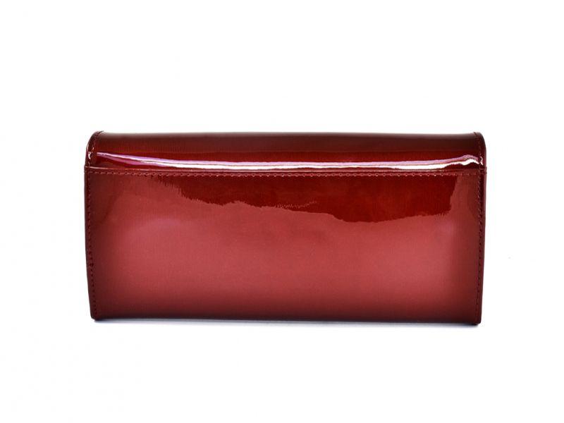 Duży czerwony portfel damski, lakierowany, RFID, Peterson zdjęcie 5