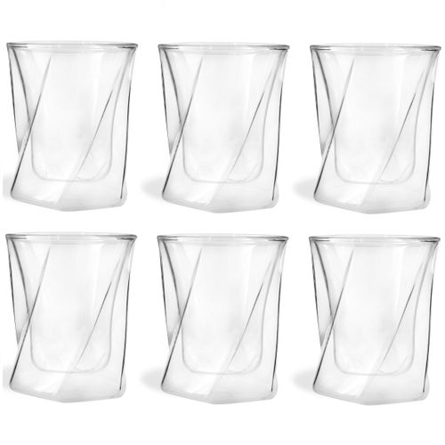 Szklanki Termiczne z Podwójną Ścianką do Whisky Drinków 250ml 6 sztuk na Arena.pl