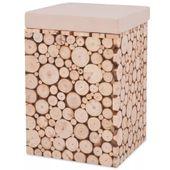 Stołek z prawdziwego drewna, 30 x 30 x 40 cm