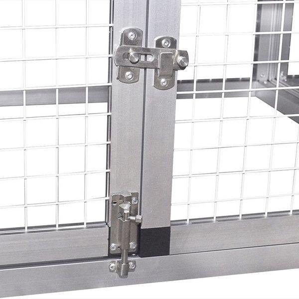 Aluminiowy kurnik z gniazdem i wybiegiem zdjęcie 7