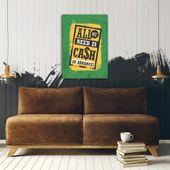 Wydruk na metalu, Retro – all we need is cash 40x60 zdjęcie 3