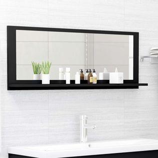 Lumarko Lustro łazienkowe, czarne, 100x10,5x37 cm, płyta wiórowa
