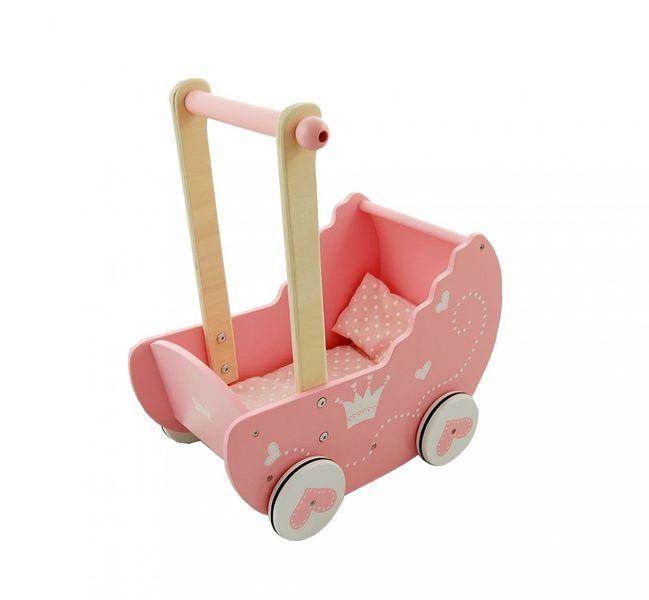 Drewniany wózek dla lalek zdjęcie 3