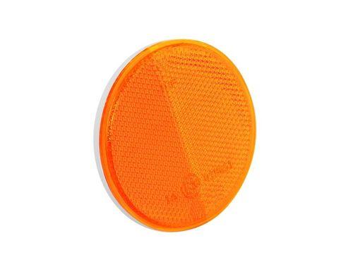 Odblask pomarańczowy okrągły 75mm, z taśmą samoprzylepną na Arena.pl