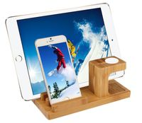 Stojak stand podstawka bamboo dock iPhone iPad Apple Watch
