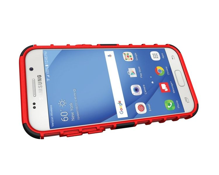 Pancerne etui Kickstand Samsung Galaxy A3 2017 A320 czerwone zdjęcie 6
