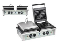 Gofrownica - 2 x 2000 W - prostokątna Royal Catering RCWM-4000-E