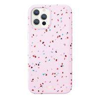"UNIQ etui Coehl Terrazzo iPhone 12/12 Pro 6,1"" różowy/blush pink"