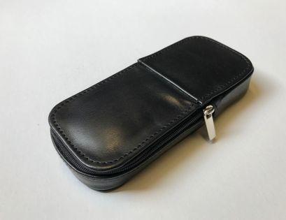 Etui skórzane na trzy pióra lub długopisy czarne - polskie - Lamato