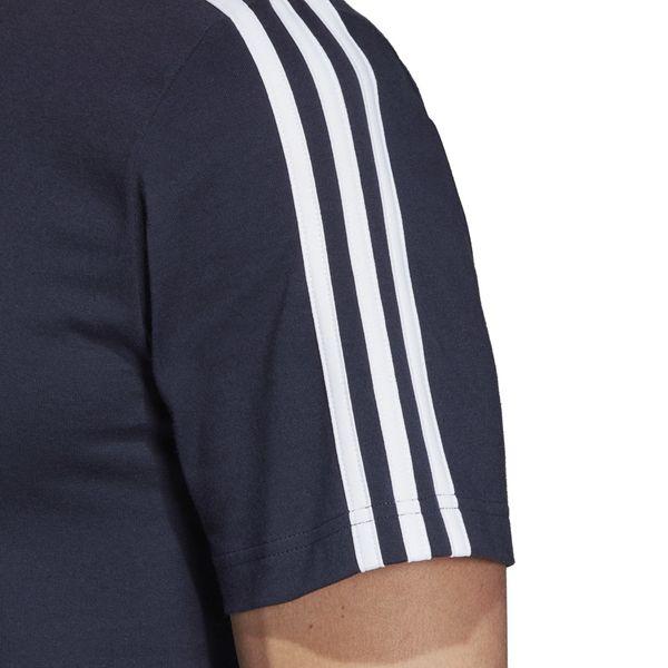 Koszulka adidas Essentials 3 Stripes Tee granatowa DU0440 XL zdjęcie 4