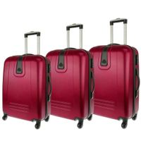 Zestaw 3 walizek PELLUCCI RGL 910 Bordowe