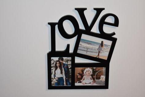 Multirama drewniana  ramka na zdjęcia z napisem  Love
