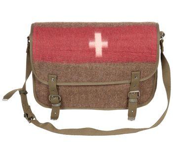 Torba na ramię w stylu vintage flaga szwajcarii