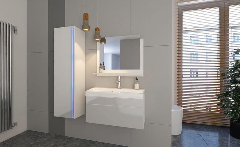 Meble łazienkowe Shine Oświetlenie Led Lustro Nowość Połysk