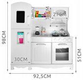 Duża Kuchnia Drewniana Dla Dzieci Światła Dźwięk Akcesoria Z369 zdjęcie 5