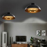 Lampy Sufitowe, 2 Szt., Czarno-Złote, Półkoliste, E27