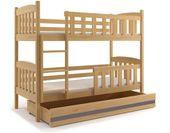 Łóżko łóżka dziecięce Kubuś piętrowe dla dwójki osób 190x80 + SZUFLADA zdjęcie 11