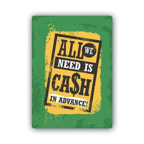 Wydruk na metalu, Retro – all we need is cash 40x60 na Arena.pl