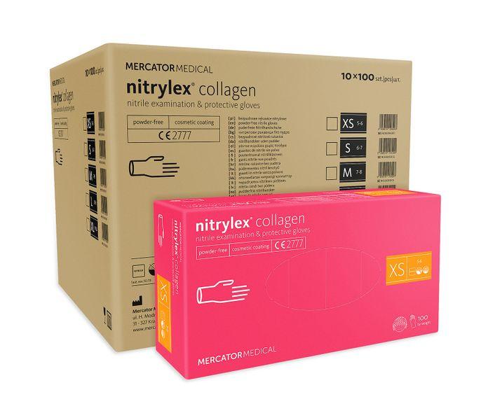 Rękawice nitrylowe nitrylex collagen XS karton 10 x 100 szt na Arena.pl