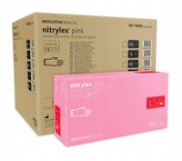 Rękawice nitrylowe nitrylex pink L karton 10 x 100 szt