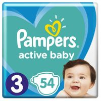Pampers Pieluszki Dla Dzieci  -Active Baby  -3 6-10Kg - 54 Sztuki