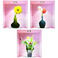 Naklejki na ścianę ścienne Kwiaty 3D WS-0188