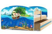Łóżko łóżka parterowe dla dzieci Luki 160x80 + PRODUCENT HIT