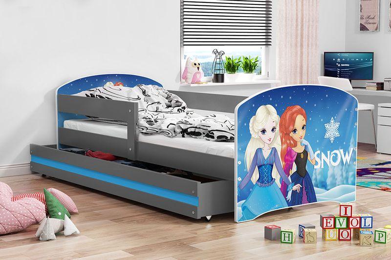 łóżko łóżka Luki Pojedyncze 160x80 Dla Dzieci Szuflada Barierka
