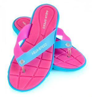 Klapki basenowe japonki BALI Rozmiar - Klapki - 37, Kolor - Klapki - Bali - 03 - różowy / niebieski
