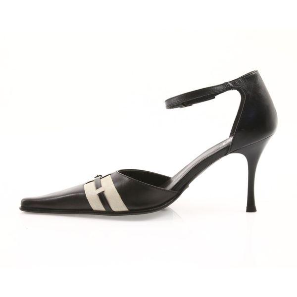 Sandały czarne skórzane damskie Eksbut 644   Sandały
