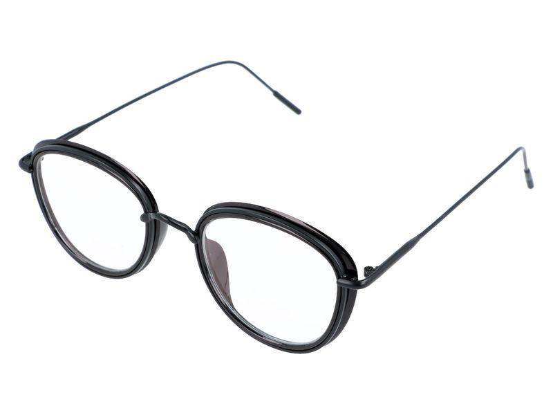damskie okulary zerówki antyrefleks czarne zdjęcie 2