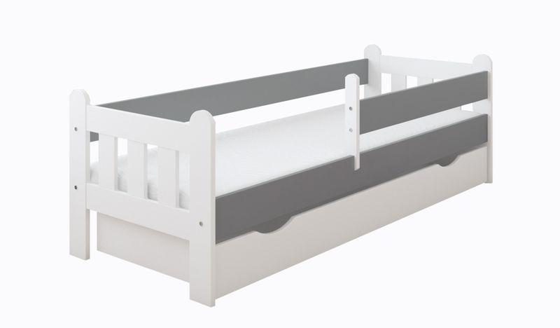 Łóżko STAŚ 140 x 70 z szufladą + barierka ochronna + MATERAC GRATIS zdjęcie 2