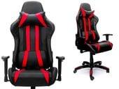 Fotel biurowy kubełkowy KONSUL gamingowy czarno - czerwony 800