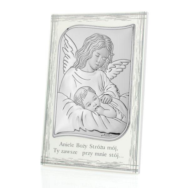 Pamiątka CHRZTU obrazek anioł stróż GRAWER PREZENT zdjęcie 1