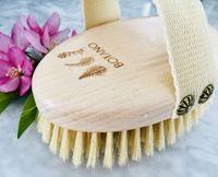 Botano szczotka do masażu ciała i peelingu na sucho z naturalnym włosiem