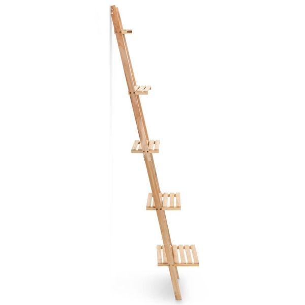 Regał Drabina Z Drewna Cedrowego, 41,5 X 30 X 176 Cm zdjęcie 2