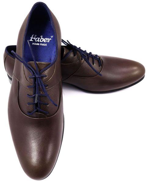 6a7cf78395b90 Brązowe obuwie męskie z granatowymi elementami T60 Rozmiar Obuwia - 44  zdjęcie 3