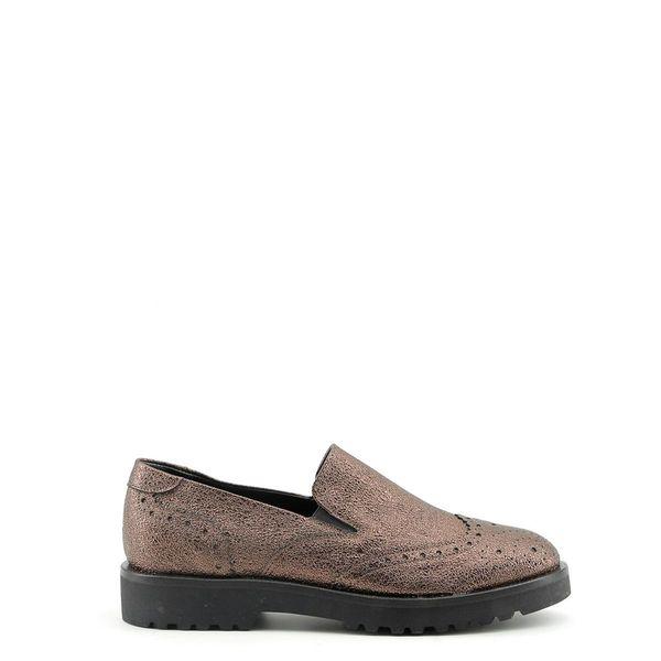 67e13688 Made in Italia skórzane buty damskie pantofle lordsy brązowy 38 zdjęcie 1