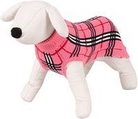 Sweterek dla psa Happet 470S róż krata S-25cm
