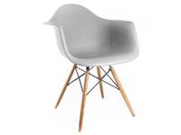 Krzesło fotel skandynawskie 132 JASNOSZARE Mondi buk nowoczesne DAW