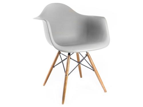 Krzesło fotel skandynawskie 132 JASNOSZARE Mondi buk nowoczesne DAW na Arena.pl