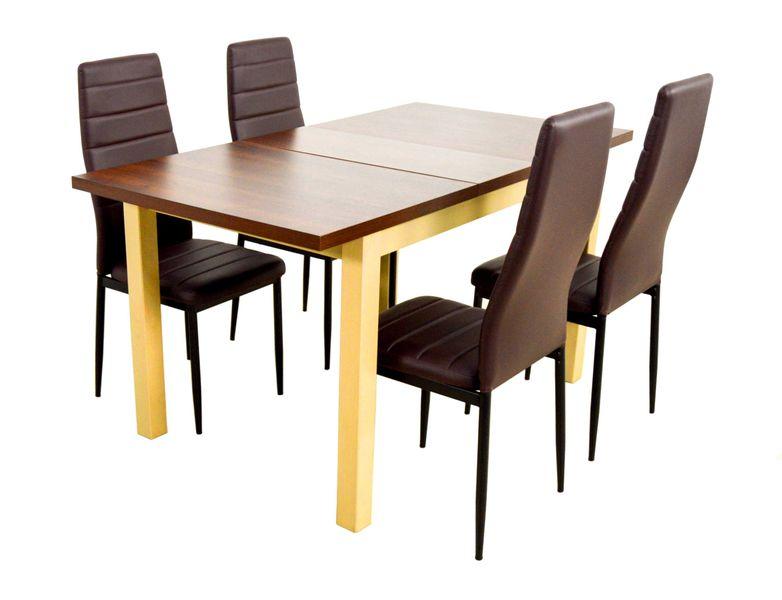 Zestaw Do Salonu Drewniany Stół I 4 Krzesła Arenapl