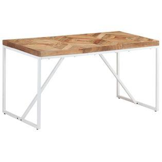 Stół jadalniany, 140x70x76 cm, lite drewno akacjowe i mango