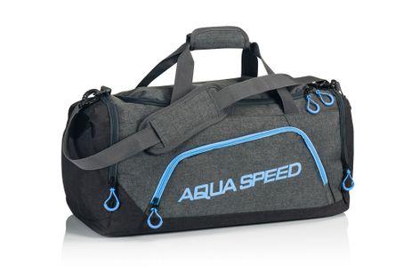 Torba sportowa AQUA-SPEED roz. L 55x26x30 cm Kolor - Akcesoria - Torba sportowa - 32 - szary / niebieski
