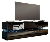Szafka RTV stolik pod tv w połysku czarny