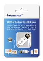 Integral USB 2.0 OTG (On-The-Go) microSDHC and microSDXC Card Reader - czytnik kart pamięci