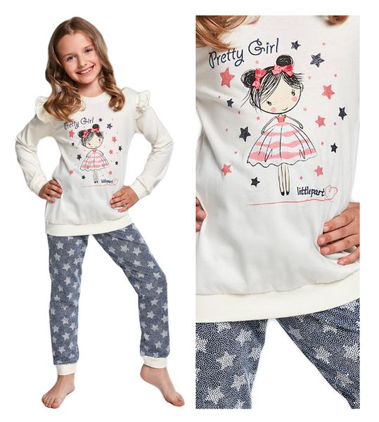 3fffb5dffee5e7 piżama dla dziewczynki CORNETTE 040/90 PRETTY bawełna długa - 110/116  zdjęcie 1
